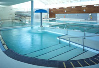 indoor swimming pool entry area